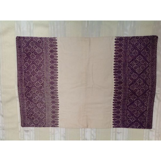 Old embroidered pillow case