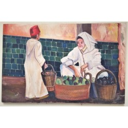 Painting Souk Fes Morocco