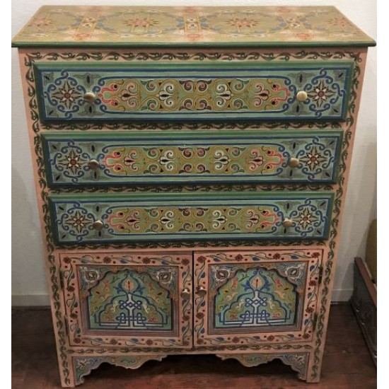 Moroccan Hand painted Dresser