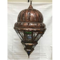 Colored glass lantern
