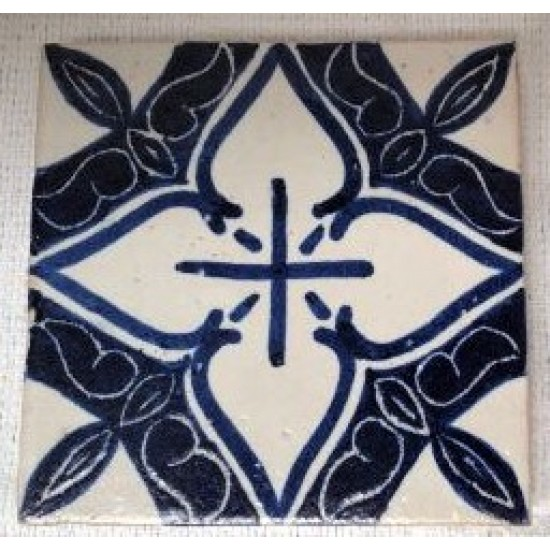 """Hand painted tile 4"""" x 4"""""""