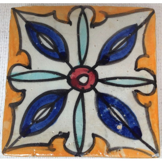 """Hand painted tile 4"""" x 4"""