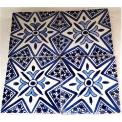 """Hand painted tile 4""""x 4"""""""
